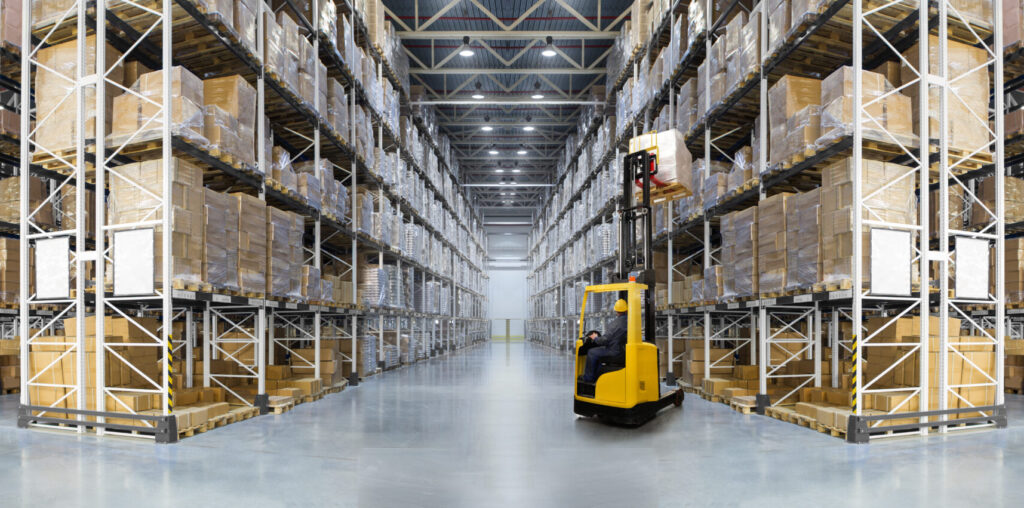 Foodservice Equipment Distribution Warehouse with Forklift